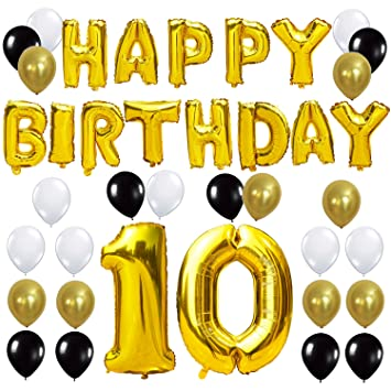 KUNGYO 10TH Birthday Party Decorations Kit