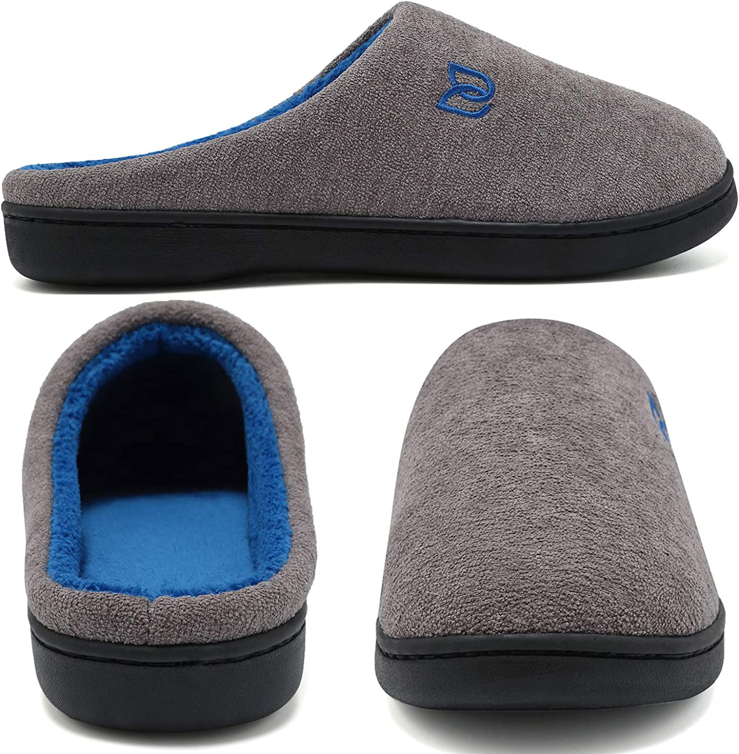 IceUnicorn Womens Mens Comfort House Slippers Memory Foam Cotton Slippers House Shoes Slip On Indoor Outdoor