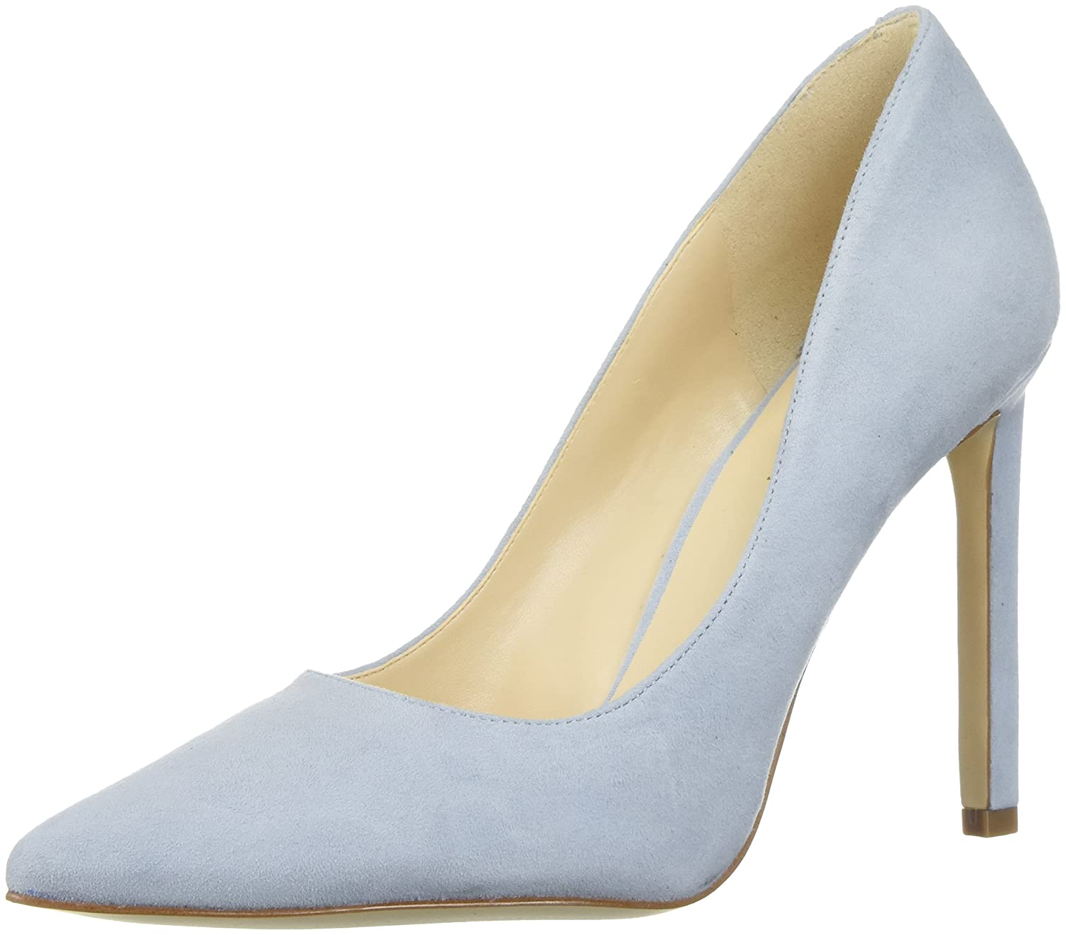 Nine West Women's Tatiana Suede Dress Pump B072JKNZPT 5 B(M) US|Light Blue Suede Suede