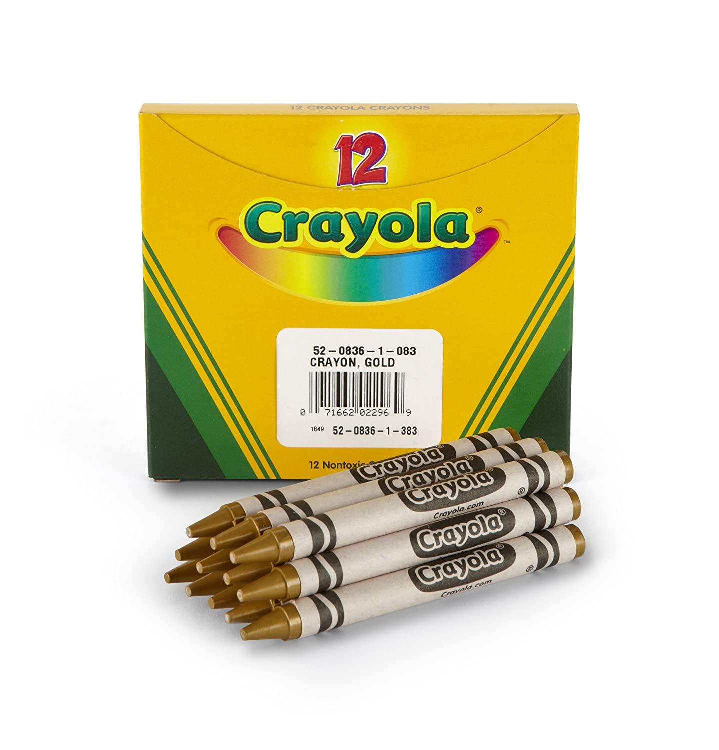 Crayola Bulk Crayons Gold, Pack of 12 Binney & Smith 52-0836-083