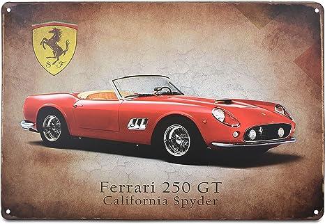 Classic Ferrari 250GT California Spyder Italian sports car metal plaque tin sign