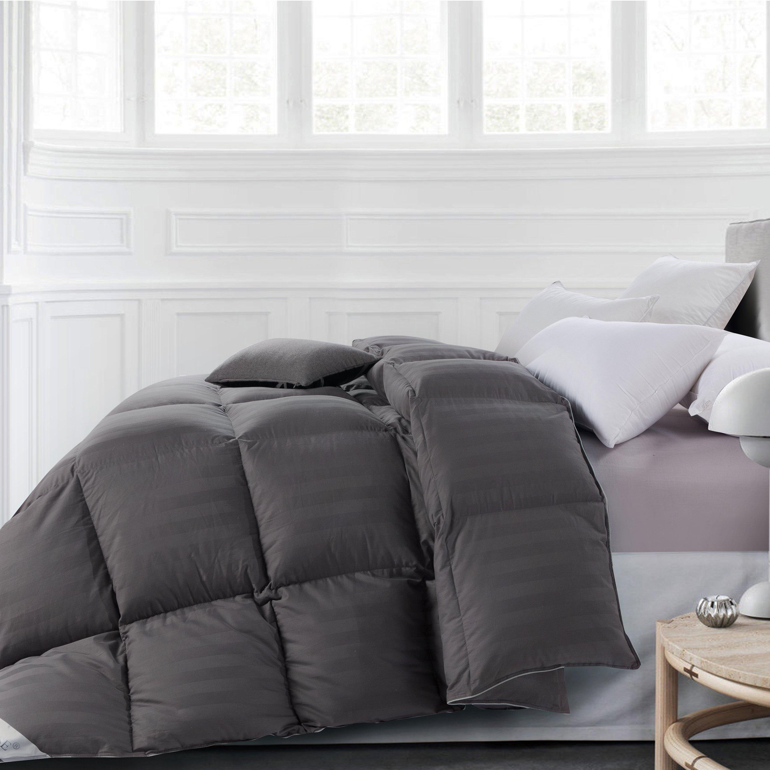 rosecose luxurious all seasons goose down comforter king size duvet insert gray 797566089630 ebay. Black Bedroom Furniture Sets. Home Design Ideas