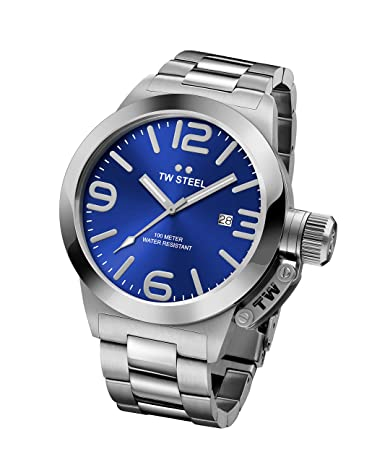 TW Steel Men s CB11 Analog Display Quartz Silver Watch