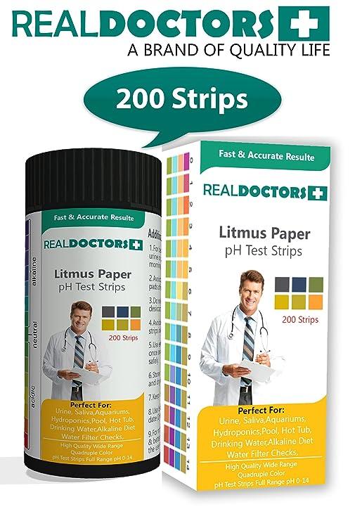 Litmus Paper 200 Tiras de pH El mejor papel indicador Tiras de prueba de pH y tiras de prueba de balance de pH - La mayoría de los resultados ...