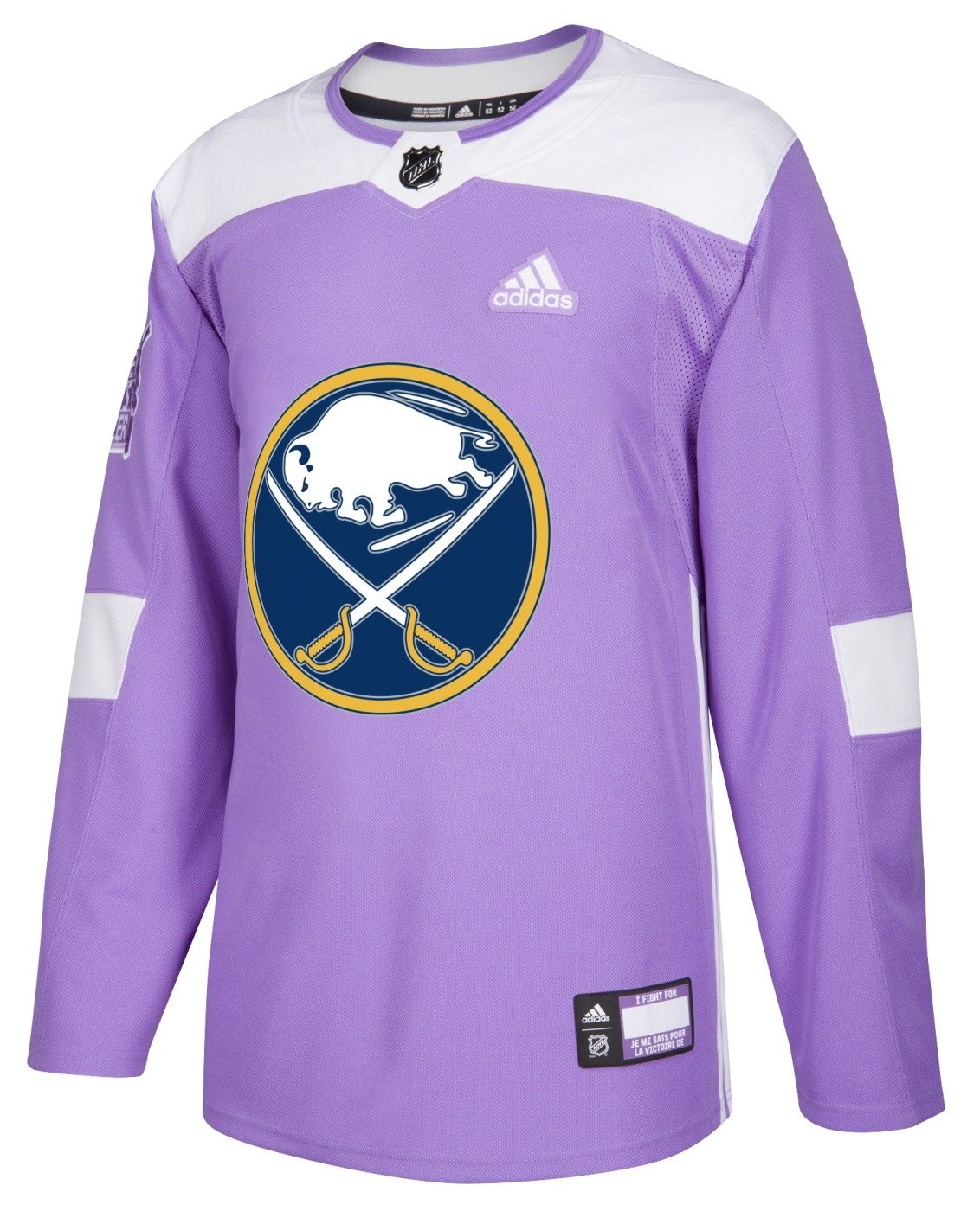 official photos 7963d 1d5c2 Buffalo Sabres Adidas NHL Hockey Fights Cancer Men's ...