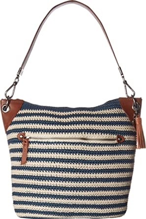 Amazoncom The Sak Womens Indio Crochet Hobo Vintage Eggshell One