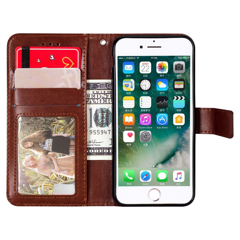 Blau KM-Panda Kompatibel f/ür Apple iPhone 5 5S SE Leder Tasche Mandala Klapph/ülle Schutzh/ülle Handyh/ülle Lederh/ülle Flip Case h/ülle mit Kartenf/ächer