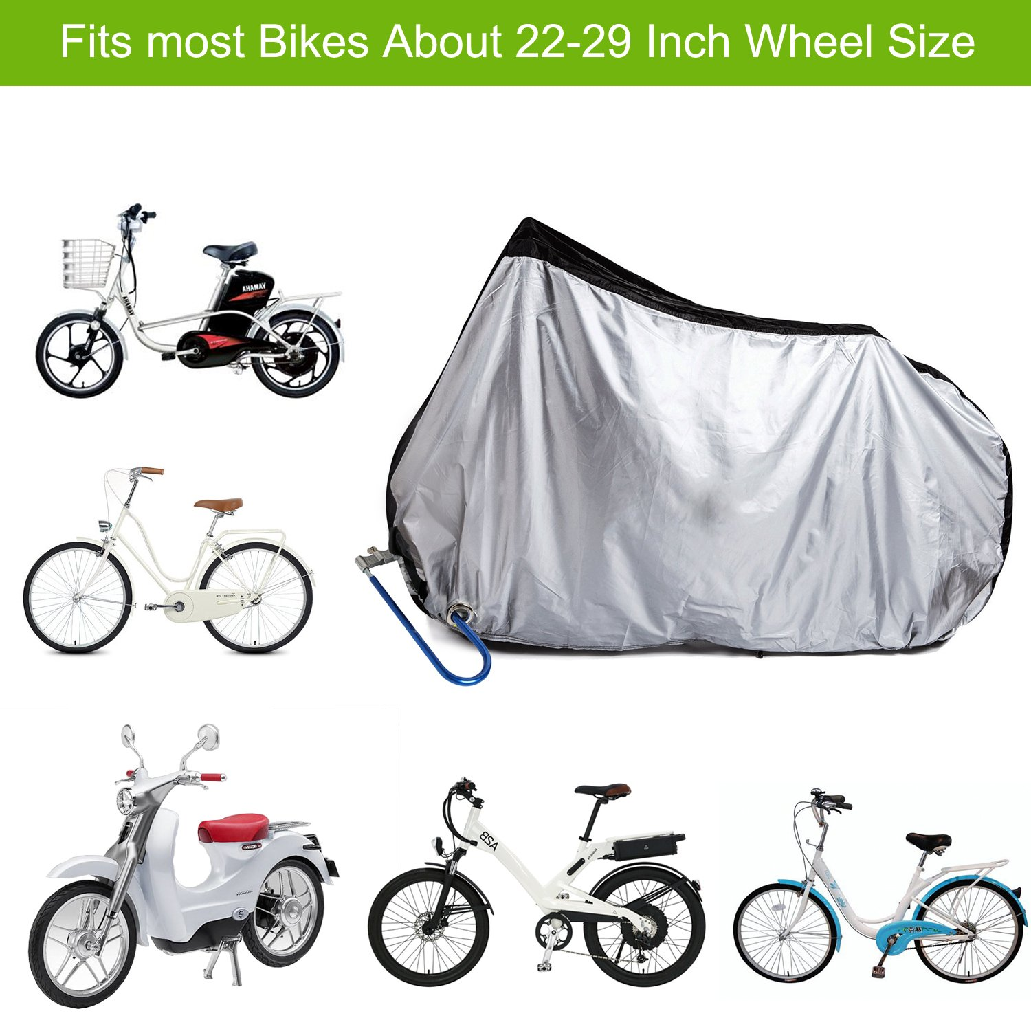 Amazon.com : Yougai Bike Cover Outdoor Bicycle Cover Waterproof Dust ...