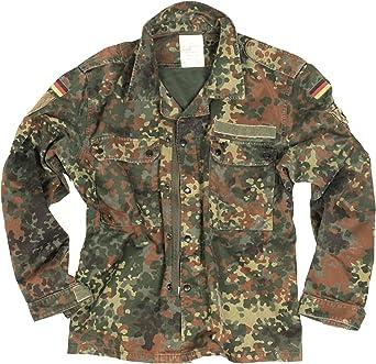 Auténtico vintage alemán militar Flecktarn camisa/chaqueta ligera: Amazon.es: Ropa y accesorios
