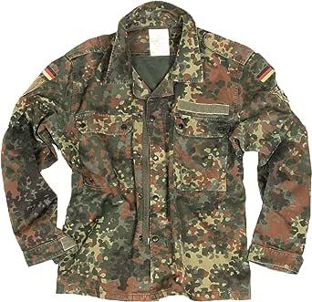 Camisa militar alemana de estilo vintage de Flecktarn y chaqueta ligera