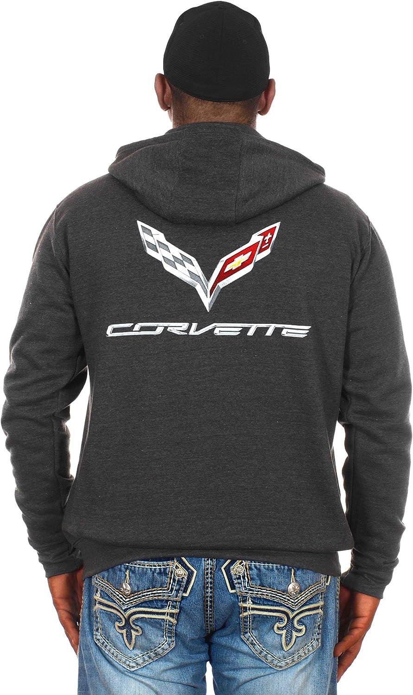 JH DESIGN GROUP Men/'s Chevy Corvette Hoodies Pullover /& Zip Up Sweatshirts in 6 Styles