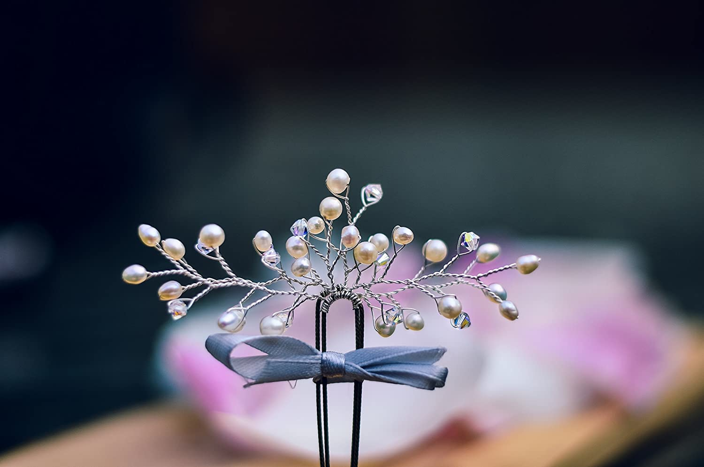 Wedding hair pins by West Coast Jewelry wedding hair piece
