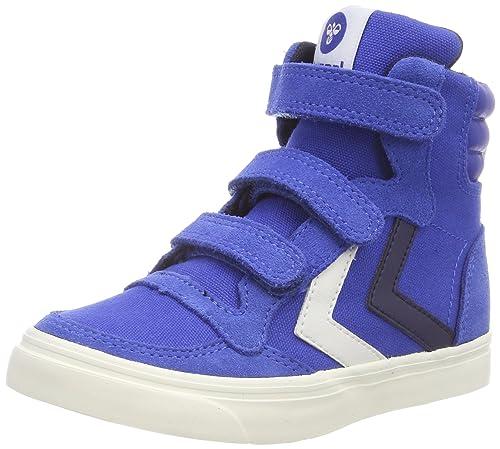 5291d15daf2caf hummel Unisex-Kinder Stadil Canvas Duo High Jr Hohe Sneaker  Amazon ...