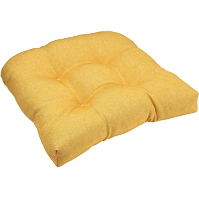 Brentwood Solid Wicker Chair Cushion One Size Yellow : Garden & Outdoor