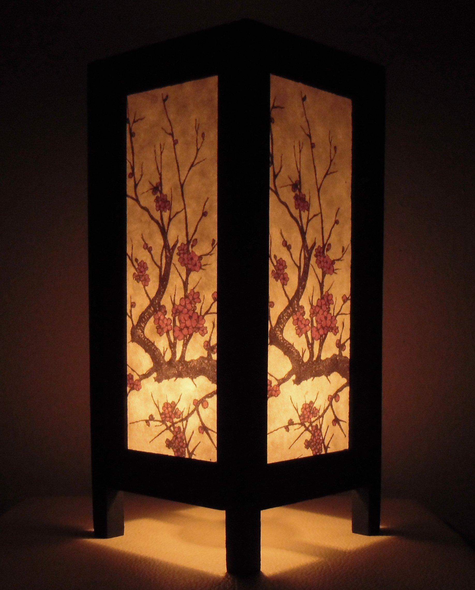 Thai Vintage Handmade ASIAN Oriental Handcraft TREE GOLD Art Buddha Style Bedside Table Light or Floor Wood Lamp Home Bedroom Decor Modern Design from Thailand