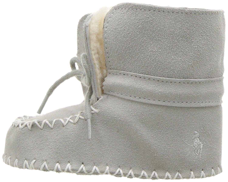 Ralph Lauren Layette Kids Pocono Grey Suede Boot