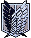 Attack on Titans Emblema Scouting Legion Patch Iron On Écusson Brodé Thermocollant Patch By Titan One Europe