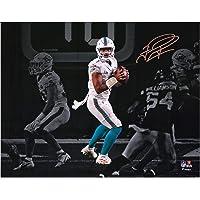 "$129 » Tua Tagovailoa Miami Dolphins Autographed 11"" x 14"" White Jersey Spotlight Photograph - Autographed NFL Photos"