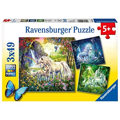 Ravensburger Beautiful Unicorns Jigsaw Puzzle (3 x 49 Piece): Toys & Games