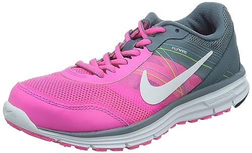 Nike Lunar Forever 4 MSL, Zapatillas de Running para Mujer, Rosa/Gris/Blanco, 39 EU: Amazon.es: Zapatos y complementos
