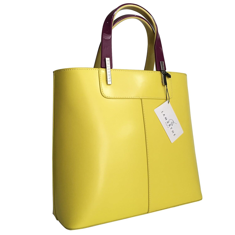 77a82997d7e Lamarthe bag portofino ladies handbag genuine leather yellow tote bag  dimensions one size shoes bags jpg
