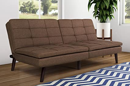 dhp premium westbury linen pillowtop futon brown amazon    dhp premium westbury linen pillowtop futon brown      rh   amazon