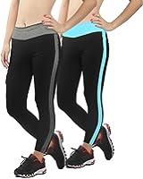 4How Women's Tight Capri Ankle Workout Leggings