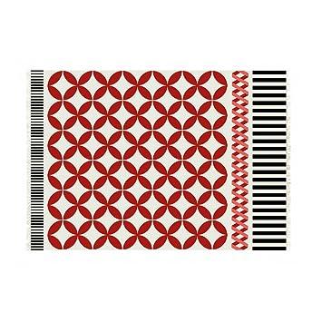 Gan Kilim Catania Teppich Rot Weiss Schwarz 170x240cm Amazon De