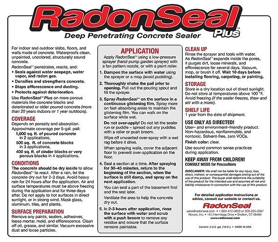 Amazon Radonseal Plus Deep Penetrating Concrete Sealer 5 Gal