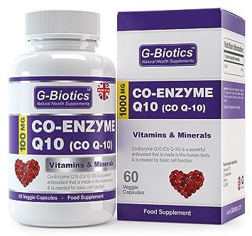 Co-enzima Q10 de G-Biotics ~ Suplemento EXTRA de ALTO GRADO ~ CoQ10 100 mg: Amazon.es: Salud y cuidado personal