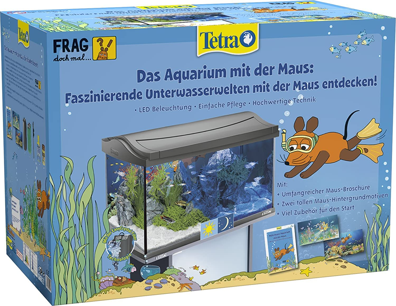 Tetra Das Aquarium mit der Maus, Komplettset 60 Liter, limitiertes Themenaquarium mit moderner LED-Beleuchtung