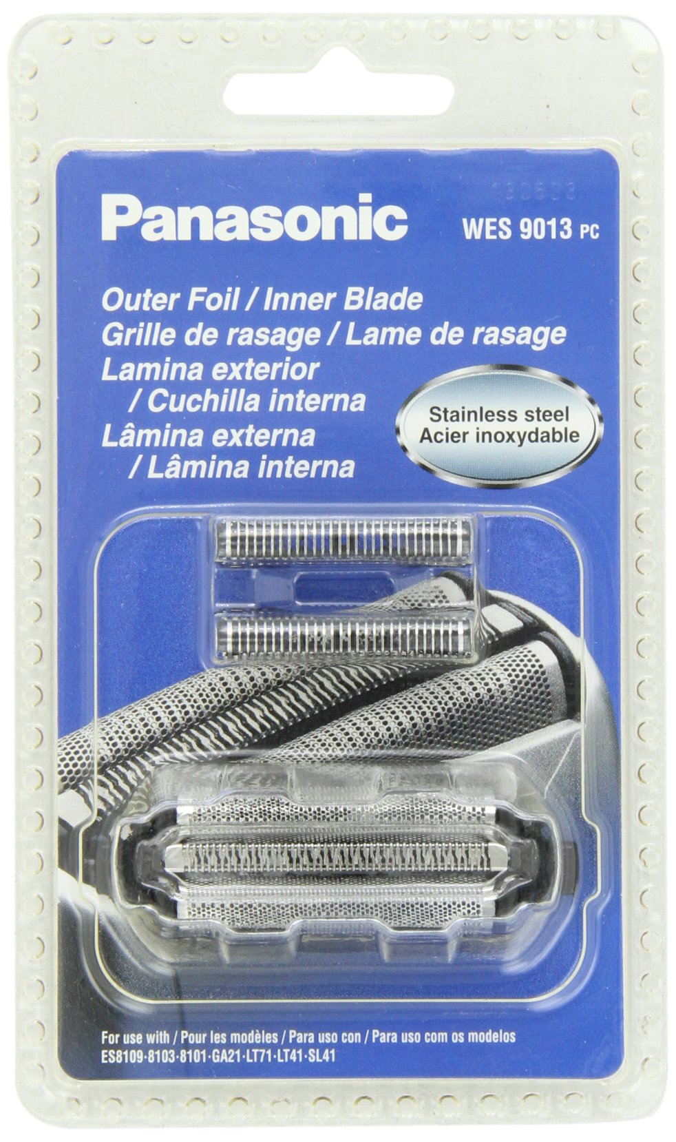 Panasonic WES9013PC Electric Razor Replacement Inner Blade and Outer Foil Set for Men