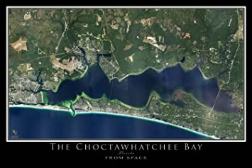 Destin - Choctawhatchee Bay Florida Satellite Poster Map M 16 x 24 on dunnellon fl on map of florida, computer map of florida, flood map of florida, google maps florida, live satellite map florida, traffic map of florida, telephone map of florida, map map of florida, view of tampa florida, marine map of florida, live radar weather map florida, full large map of florida, ups map florida, transportation of florida, detailed map of florida, hd map of florida, aerial of florida, drought map of florida, digital map of florida, satellite view of orlando,