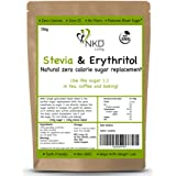 Erythritol and Stevia - Natural Sugar Alternative - 1:1 Zero Calorie Sugar Replacement - 750g