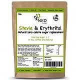 Erythritol and Stevia - Natural sugar alternative - 1:1 zero calorie sugar replacement - 750g
