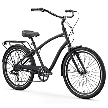 sixthreezero EVRYjourney Men's Step-Through Hybrid Alloy Beach Cruiser