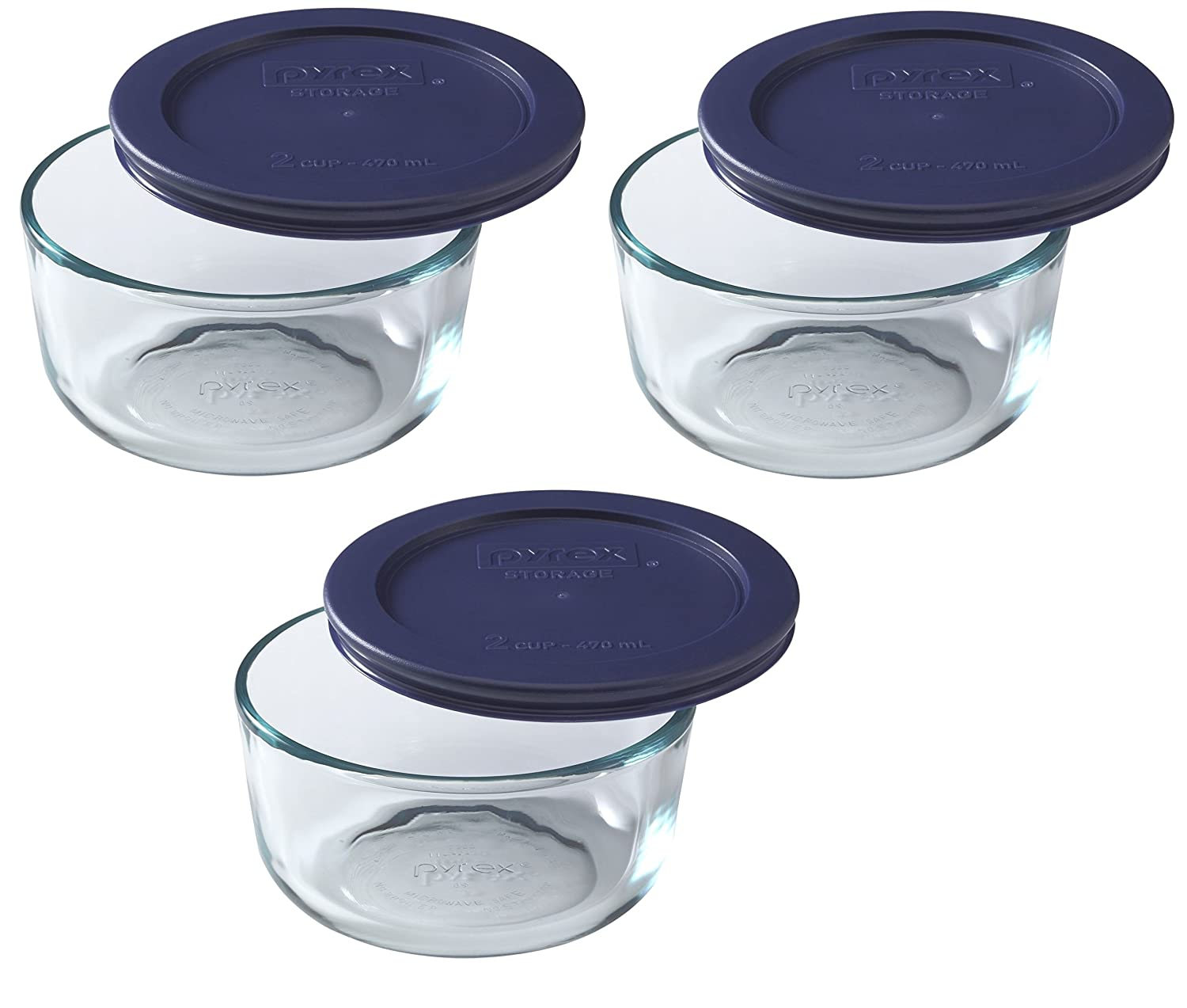 amazon com pyrex simply store 7 cup round glass food storage dish