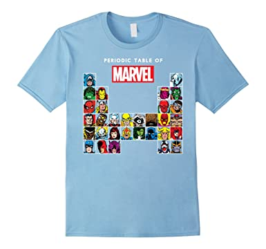 Amazon marvel periodic table of heroes villains retro t shirt mens marvel periodic table of heroes villains retro t shirt 2xl baby blue urtaz Image collections