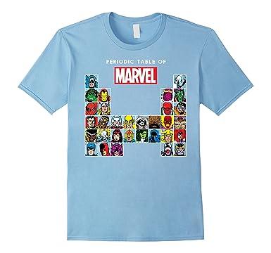 Amazon marvel periodic table of heroes villains retro t shirt mens marvel periodic table of heroes villains retro t shirt 2xl baby blue urtaz Choice Image
