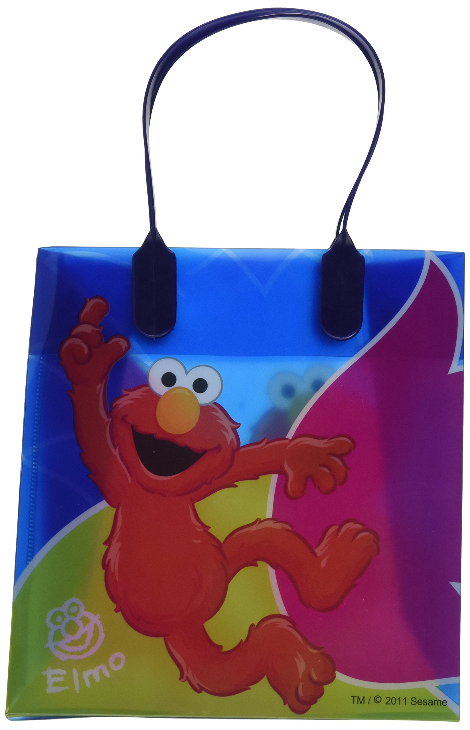 """Sesame Street Elmo Party Favor Goodie Gift Bag - 6"""" Small Size (12 Packs)"""