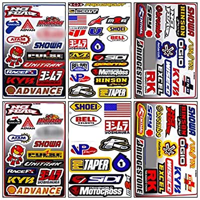 Graphic Racing Sticker Decal Motocross ATV Dirt 6 Sheets R601-4: Automotive