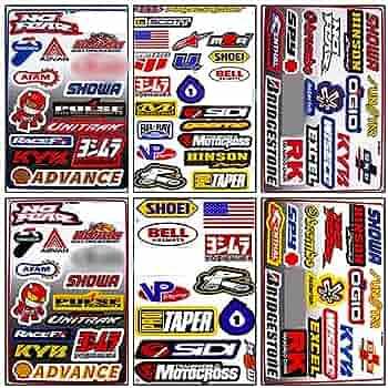 """Scott MX Motocross Sticker Decal Sheet of 12 2.5/"""" 7/"""""""