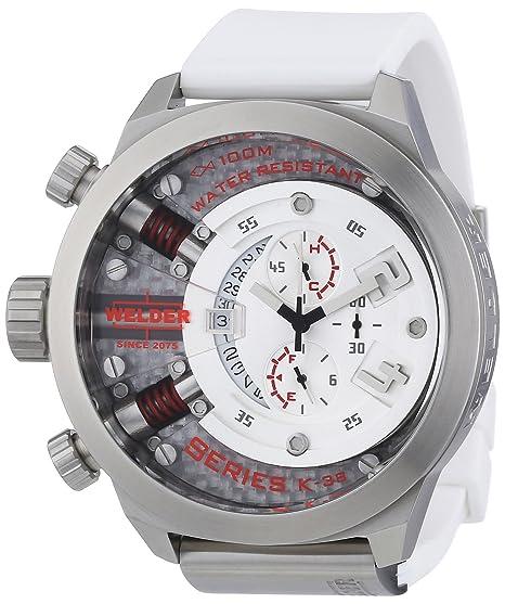 Welder K38 700 - Reloj cronógrafo de cuarzo unisex con correa de caucho, color negro