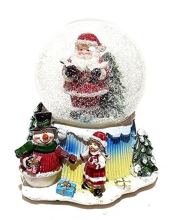 Weihnachtsdeko Schneekugel.Unbekannt Große Mechanische Spieluhr Schneekugel Schüttelkugel Weihnachtsmann Deko 12 5cm ø Dekoration Spieldose Weihnachten Weihnachtsdeko Musik
