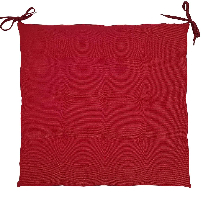con Anelli di Fissaggio Comodi Cuscini di Seduta Imbottiti per Interni ed Esterni Farbe:Beige SunDeluxe Cuscino per sedie Comfort 40x40 cm