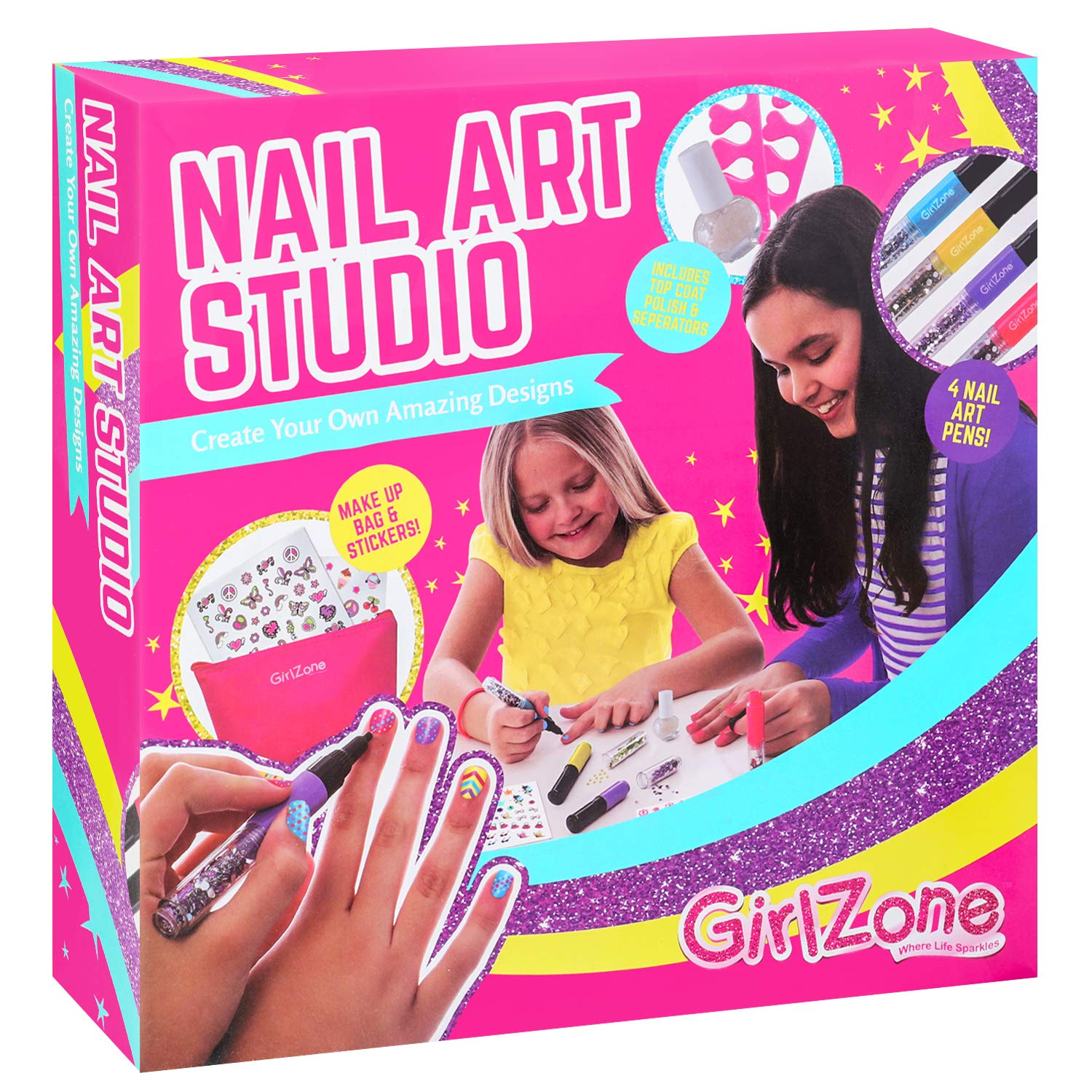 GirlZone: Nail Art Set for Girls, Great Gift for Girls by GirlZone