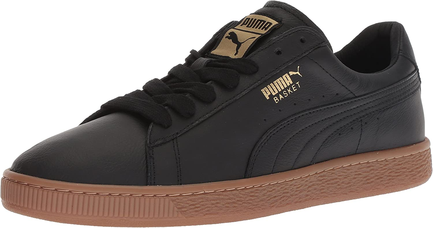 Puma Men S Basket Classic Gum Deluxe Fashion Sneakers