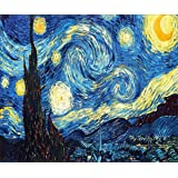 Diamond Painting Kit Full Drill DIY 5D Rhinestone Embroidery Cross Stitch Arts Craft for Home Wall Decor Starry Night 12x16 inch