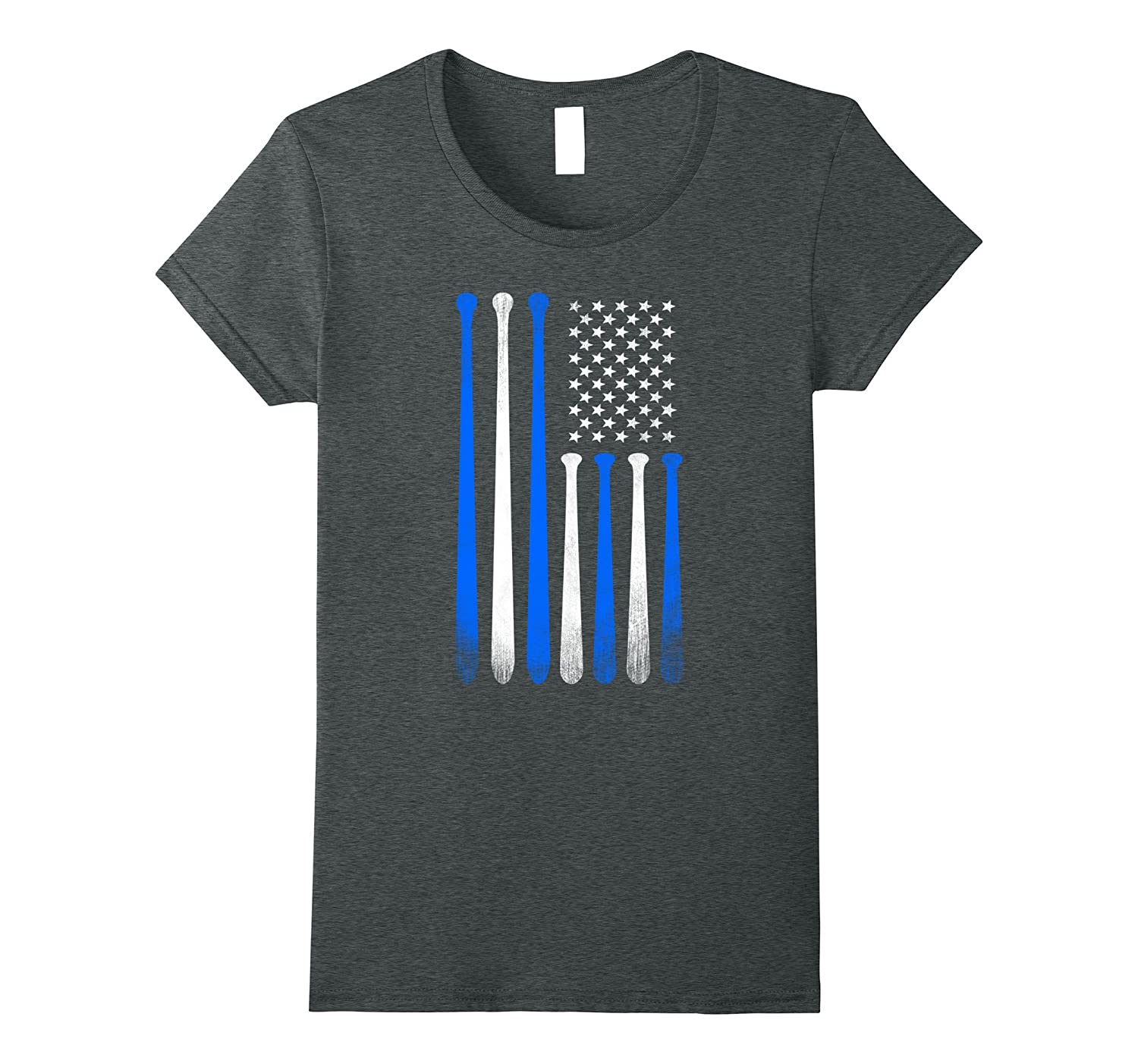 American Flag Vintage Baseball Flag T-Shirt Blue, Dad, Mom,