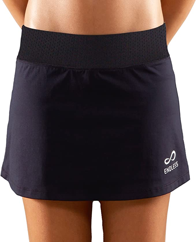 Endless Minimal Falda de Tenis, Mujer, Negro, L: Amazon.es: Ropa y ...